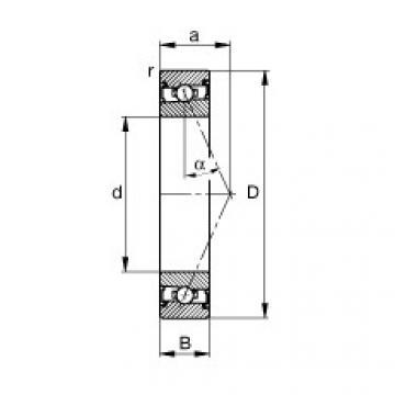 FAG محامل المغزل - HSS7028-E-T-P4S