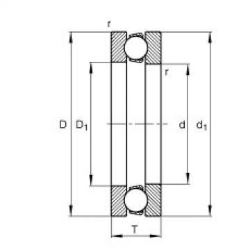 FAG محوري الأخدود العميق الكرات - 511/560-MP