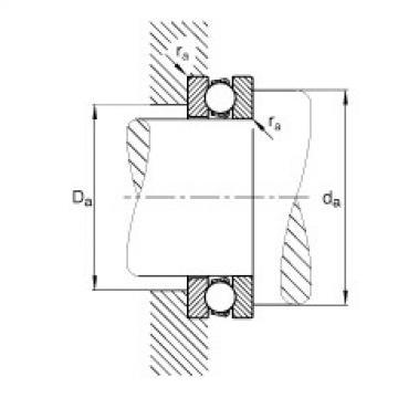 FAG محوري الأخدود العميق الكرات - 511/530-MP