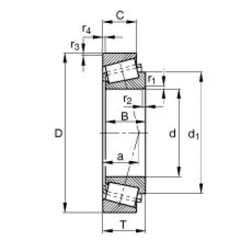 FAG تناقص الأسطوانة المحامل - K680235-680270