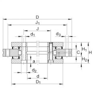 FAG Axial/radial bearings - YRT1030
