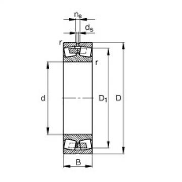 FAG محامل كروية - 238/670-B-MB