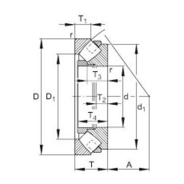 FAG محوري كروية محامل - 292/670-E1-MB
