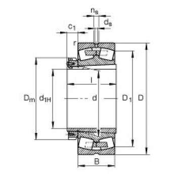 FAG محامل كروية - 230/710-B-K-MB + H30/710-HG