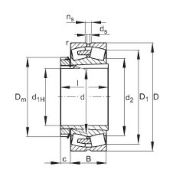FAG محامل كروية - 231/530-BEA-XL-K-MB1 + H31/530-HG