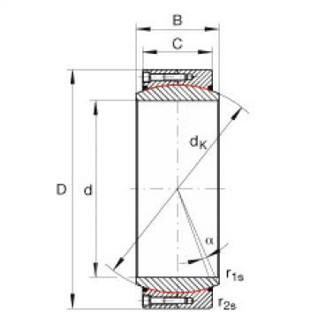 FAG Large radial spherical plain bearings - GE710-DW-2RS2