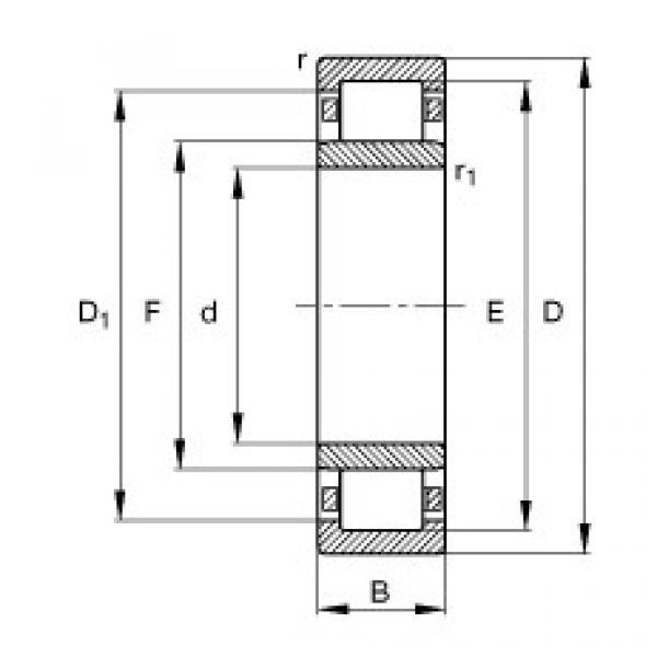 FAG محامل أسطوانية - NU19/560-M1 #1 image
