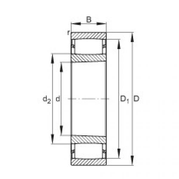 FAG محامل حلقية - C39/530-XL-K-M #1 image