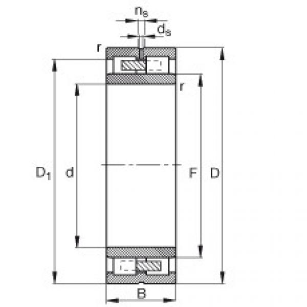 FAG محامل أسطوانية - NNU4938-S-M-SP #1 image