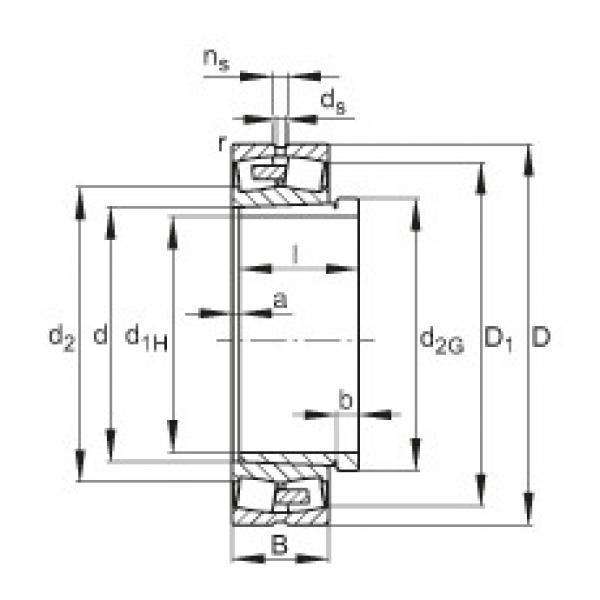FAG محامل كروية - 230/500-BEA-XL-K-MB1 + AHX30/500-H #1 image